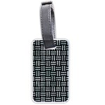 WOVEN1 BLACK MARBLE & ICE CRYSTALS (R) Luggage Tags (One Side)