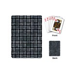 WOVEN1 BLACK MARBLE & ICE CRYSTALS (R) Playing Cards (Mini)
