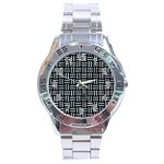 WOVEN1 BLACK MARBLE & ICE CRYSTALS (R) Stainless Steel Analogue Watch