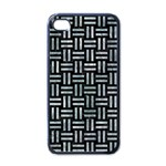 WOVEN1 BLACK MARBLE & ICE CRYSTALS (R) Apple iPhone 4 Case (Black)