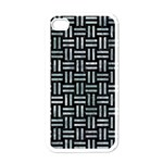 WOVEN1 BLACK MARBLE & ICE CRYSTALS (R) Apple iPhone 4 Case (White)