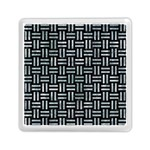 WOVEN1 BLACK MARBLE & ICE CRYSTALS (R) Memory Card Reader (Square)