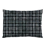 WOVEN1 BLACK MARBLE & ICE CRYSTALS (R) Pillow Case (Two Sides)