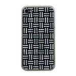 WOVEN1 BLACK MARBLE & ICE CRYSTALS (R) Apple iPhone 4 Case (Clear)