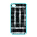 WOVEN1 BLACK MARBLE & ICE CRYSTALS (R) Apple iPhone 4 Case (Color)