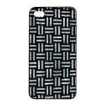 WOVEN1 BLACK MARBLE & ICE CRYSTALS (R) Apple iPhone 4/4s Seamless Case (Black)