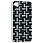 WOVEN1 BLACK MARBLE & ICE CRYSTALS (R) Apple iPhone 4/4s Seamless Case (White)