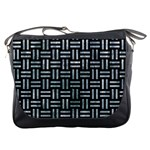 WOVEN1 BLACK MARBLE & ICE CRYSTALS (R) Messenger Bags