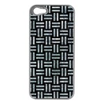 WOVEN1 BLACK MARBLE & ICE CRYSTALS (R) Apple iPhone 5 Case (Silver)