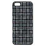 WOVEN1 BLACK MARBLE & ICE CRYSTALS (R) Apple iPhone 5 Seamless Case (Black)