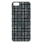 WOVEN1 BLACK MARBLE & ICE CRYSTALS (R) Apple iPhone 5 Seamless Case (White)