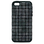 WOVEN1 BLACK MARBLE & ICE CRYSTALS (R) Apple iPhone 5 Hardshell Case (PC+Silicone)