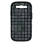 WOVEN1 BLACK MARBLE & ICE CRYSTALS (R) Samsung Galaxy S III Hardshell Case (PC+Silicone)