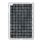 WOVEN1 BLACK MARBLE & ICE CRYSTALS (R) Apple iPad Mini Case (White)