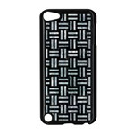 WOVEN1 BLACK MARBLE & ICE CRYSTALS (R) Apple iPod Touch 5 Case (Black)