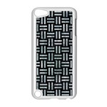 WOVEN1 BLACK MARBLE & ICE CRYSTALS (R) Apple iPod Touch 5 Case (White)