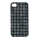 WOVEN1 BLACK MARBLE & ICE CRYSTALS (R) Apple iPhone 4/4S Hardshell Case with Stand