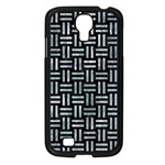 WOVEN1 BLACK MARBLE & ICE CRYSTALS (R) Samsung Galaxy S4 I9500/ I9505 Case (Black)