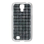 WOVEN1 BLACK MARBLE & ICE CRYSTALS (R) Samsung GALAXY S4 I9500/ I9505 Case (White)