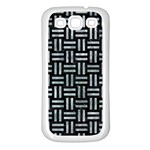 WOVEN1 BLACK MARBLE & ICE CRYSTALS (R) Samsung Galaxy S3 Back Case (White)