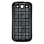 WOVEN1 BLACK MARBLE & ICE CRYSTALS (R) Samsung Galaxy S3 Back Case (Black)