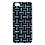 WOVEN1 BLACK MARBLE & ICE CRYSTALS (R) iPhone 5S/ SE Premium Hardshell Case