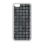 WOVEN1 BLACK MARBLE & ICE CRYSTALS (R) Apple iPhone 5C Seamless Case (White)