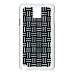 WOVEN1 BLACK MARBLE & ICE CRYSTALS (R) Samsung Galaxy Note 3 N9005 Case (White)