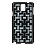 WOVEN1 BLACK MARBLE & ICE CRYSTALS (R) Samsung Galaxy Note 3 N9005 Case (Black)