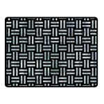 WOVEN1 BLACK MARBLE & ICE CRYSTALS (R) Double Sided Fleece Blanket (Small)