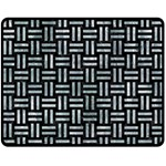 WOVEN1 BLACK MARBLE & ICE CRYSTALS (R) Double Sided Fleece Blanket (Medium)
