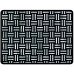 WOVEN1 BLACK MARBLE & ICE CRYSTALS (R) Double Sided Fleece Blanket (Large)