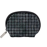 WOVEN1 BLACK MARBLE & ICE CRYSTALS (R) Accessory Pouches (Small)