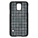 WOVEN1 BLACK MARBLE & ICE CRYSTALS (R) Samsung Galaxy S5 Case (Black)