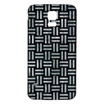 WOVEN1 BLACK MARBLE & ICE CRYSTALS (R) Samsung Galaxy S5 Back Case (White)
