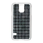 WOVEN1 BLACK MARBLE & ICE CRYSTALS (R) Samsung Galaxy S5 Case (White)