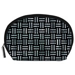 WOVEN1 BLACK MARBLE & ICE CRYSTALS (R) Accessory Pouches (Large)
