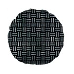 WOVEN1 BLACK MARBLE & ICE CRYSTALS (R) Standard 15  Premium Flano Round Cushions