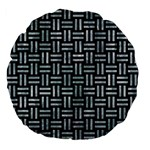 WOVEN1 BLACK MARBLE & ICE CRYSTALS (R) Large 18  Premium Flano Round Cushions