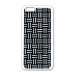 WOVEN1 BLACK MARBLE & ICE CRYSTALS (R) Apple iPhone 6/6S White Enamel Case