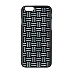 WOVEN1 BLACK MARBLE & ICE CRYSTALS (R) Apple iPhone 6/6S Black Enamel Case