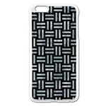 WOVEN1 BLACK MARBLE & ICE CRYSTALS (R) Apple iPhone 6 Plus/6S Plus Enamel White Case