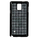 WOVEN1 BLACK MARBLE & ICE CRYSTALS (R) Samsung Galaxy Note 4 Case (Black)