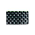 WOVEN1 BLACK MARBLE & ICE CRYSTALS (R) Cosmetic Bag (XS)