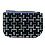 WOVEN1 BLACK MARBLE & ICE CRYSTALS (R) Large Coin Purse