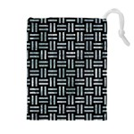 WOVEN1 BLACK MARBLE & ICE CRYSTALS (R) Drawstring Pouches (Extra Large)