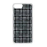 WOVEN1 BLACK MARBLE & ICE CRYSTALS (R) Apple iPhone 7 Plus Seamless Case (White)