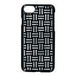 WOVEN1 BLACK MARBLE & ICE CRYSTALS (R) Apple iPhone 7 Seamless Case (Black)