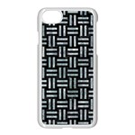 WOVEN1 BLACK MARBLE & ICE CRYSTALS (R) Apple iPhone 7 Seamless Case (White)