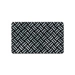 WOVEN2 BLACK MARBLE & ICE CRYSTALS (R) Magnet (Name Card)